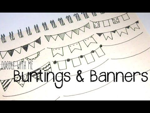 Doodle with Me: Buntings + Banners - YouTube