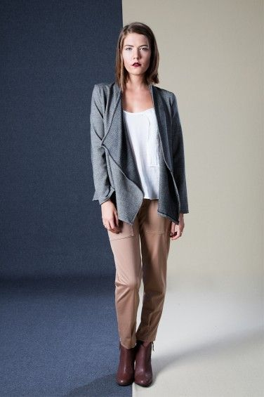 Chain Top, Wrap Jacket and Sunday Trousers