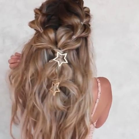 half up styles for long hair