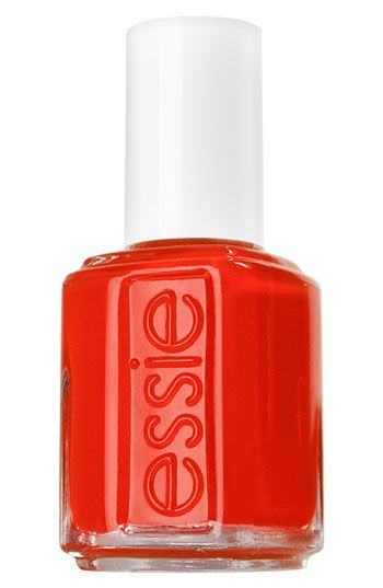 red orange nail polish