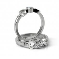 Inel de logodna Charles cu diamant din aur alb