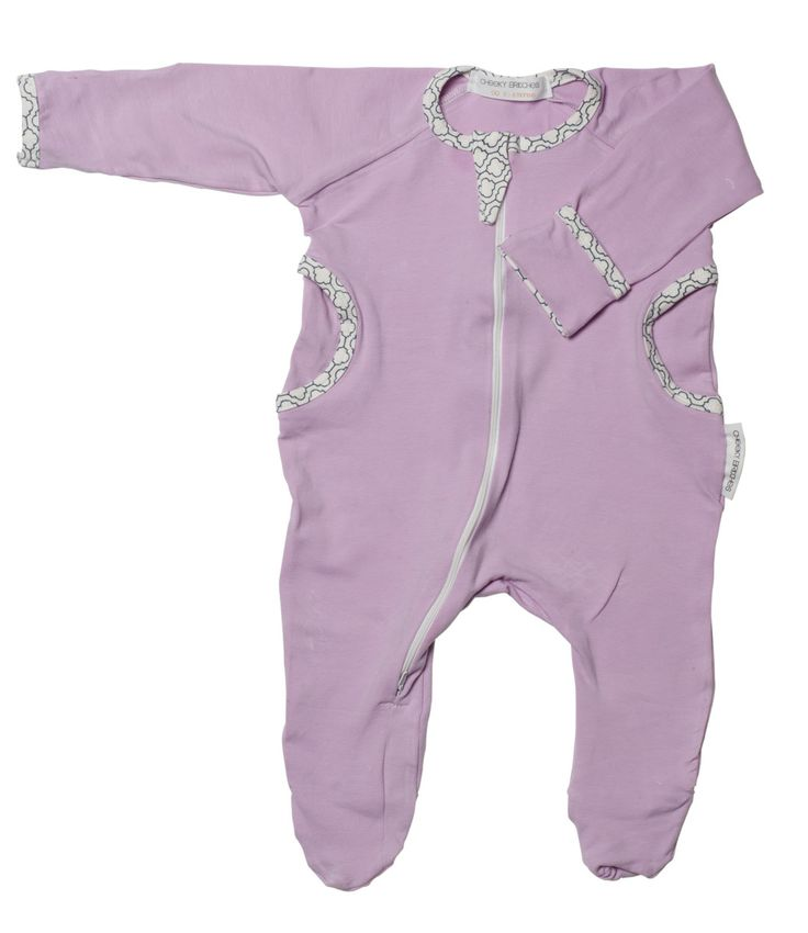 Organic Cotton Orchid Bloom Growsuit