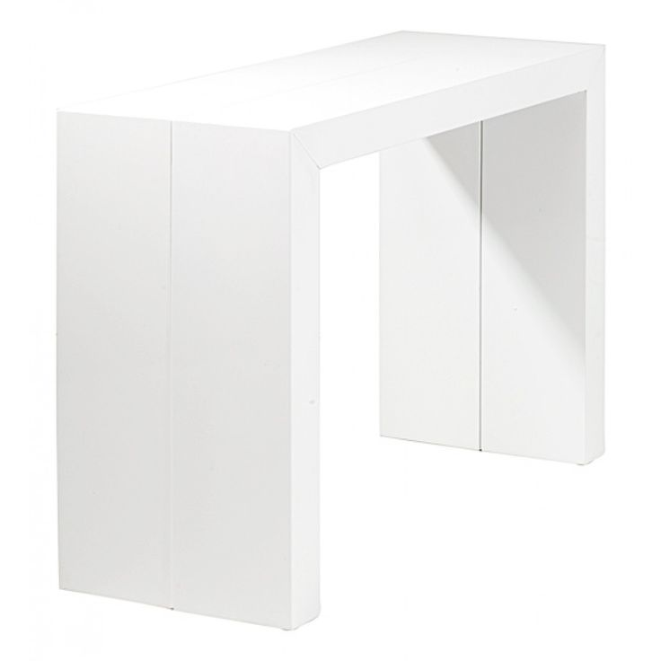 1000 ideas about console extensible blanc laqu on pinterest console exten - Table console extensible blanc laque ...