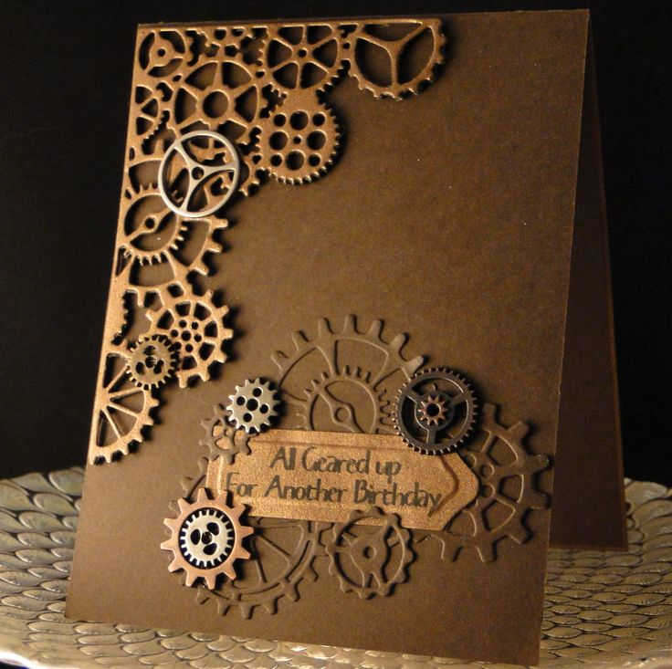 Ed Bday August 2016 Tim Holtz die corner and dies. metal dies added. Created by Peggy Dollar