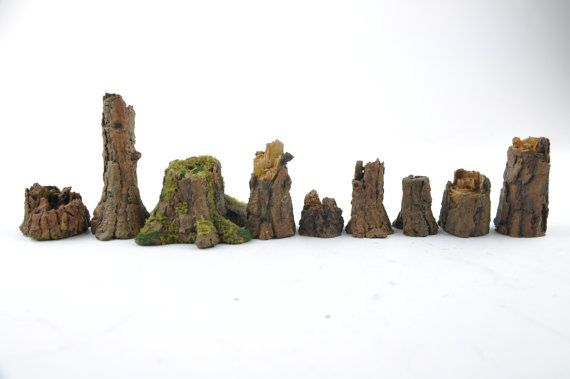 Tree Stumps  Trunks  Forest  Resin Gameboard  by resinscenery