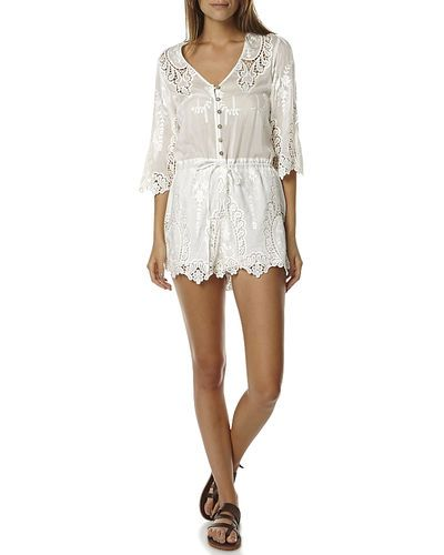 Bebe Sydney | posy embroidered womens jumpsuit | $169.95