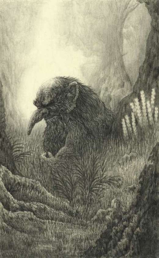 Original trolls that appear in countless tales of Norse mythology seem to be descended from the Jotun. The Jotun were a race very similar to the Titans of ancient Greece. They were sworn enemies of the gods and separated from humans in remote hills, mountains, and forests only through the diligence of the Norse gods where they awaited the end of the world when they would finally battle the Norse gods on an even playing field. Trolls are very similar in their homes as the Jotun or Giants.