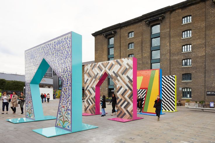Adam Nathanial Furman creates sequence of tiled archways at London Design Festival