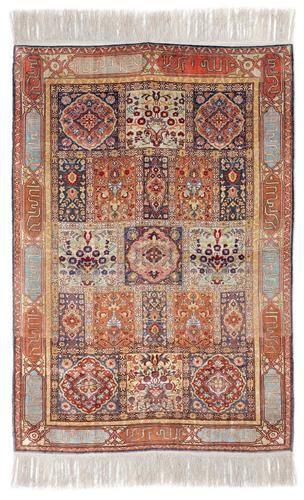 Alif Art      Kayseri Silk Carpet  105.00 x 105.00 cm.  41.34 x 41.34 in.  20th cent.