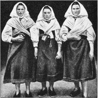 Peasant Women of Trencin, Provincial Town of West Slovakia