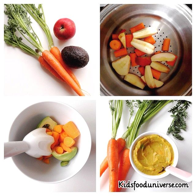 93 best baby food 6 8 months images on pinterest baby foods baby simple carrot apple avocado baby food pure suitable for weaning babies aged 4months forumfinder Image collections
