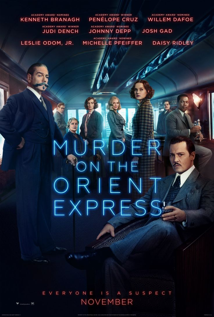 Official UK Poster Released For MURDER ON THE ORIENT EXPRESS  www.themoviewaffler.com/2017/09/official-uk-poster-released-for-murder.html   #MurderontheOrientExpress
