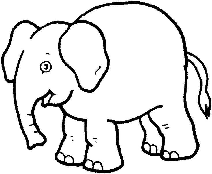 Elephant Elefanten Umriss Malvorlagen Tiere Ausmalbilder