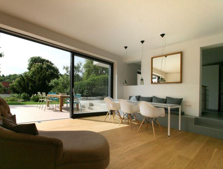 77 best Hausideen images on Pinterest Gable roof, Modern homes - durchreiche kuche wohnzimmer modern