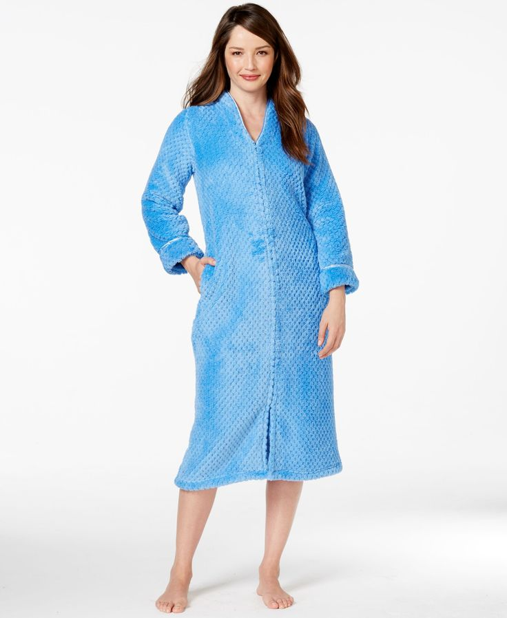 Charter Club Petite Zip Up Long Robe