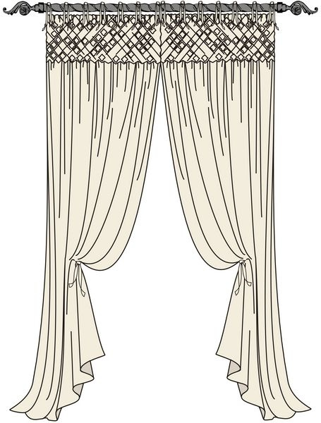 Smocked Italian Strung Drapes