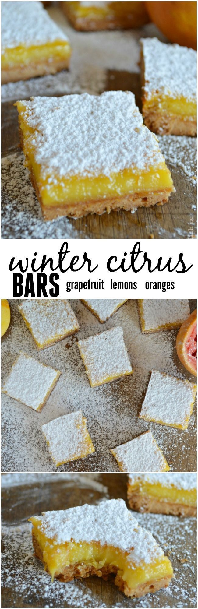 Winter Citrus Bars are sweet and slightly tart with all the flavors of my favorite winter citrus. Grapefruit shines in this recipe with hints of lemon & orange