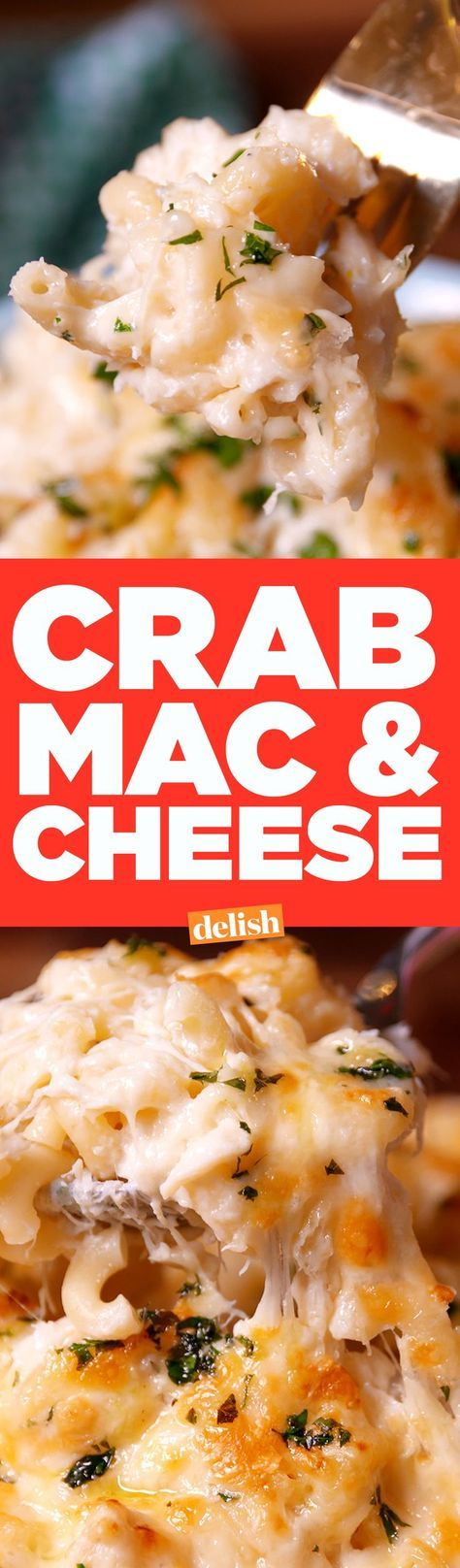The only thing better than macaroni and cheese? Crab Mac & Cheese. Get the recipe on http://Delish.com.