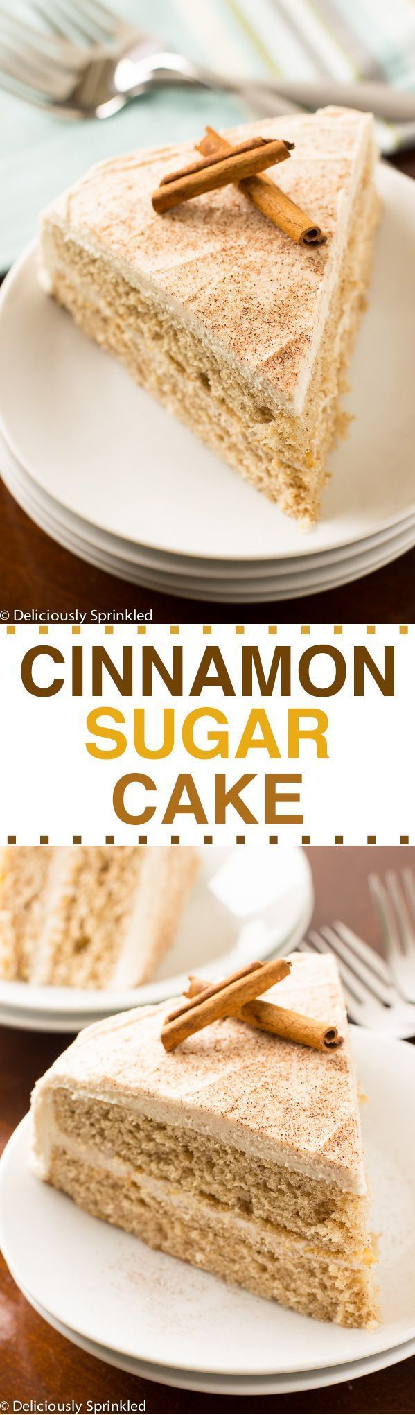 The BEST Cinnamon-Sugar Cake Recipe  Thanksgiving Desserts, Christmas Desserts, Cake Recipes, Holiday Desserts, Easy Dessert Recipes, Cinnamon, Buttercream Frosting Recipes