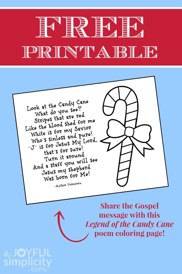 25 unique Candy cane poem ideas