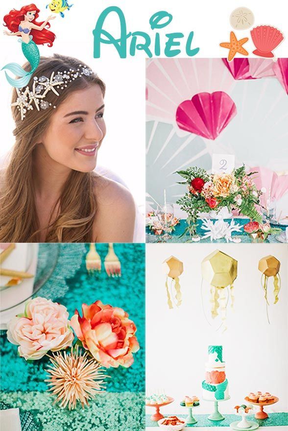These Ariel inspired wedding touches will make you feel like a sea princess at your wedding!