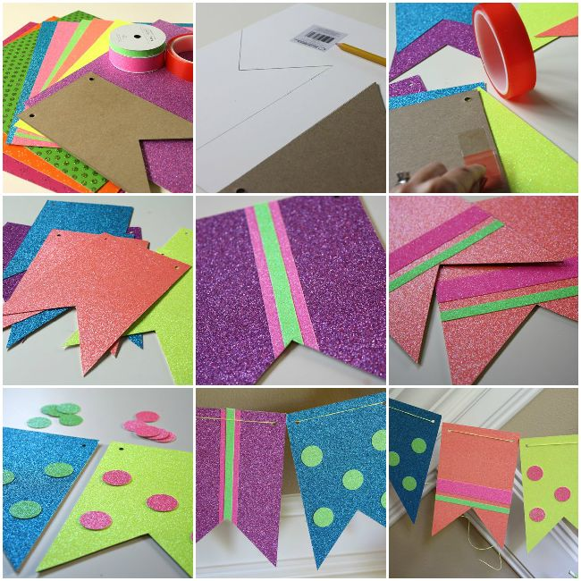 Neon Party Decorations | Neon Party Banner Directions