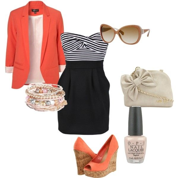 Semi-Casual Summer Outfit, created by kfitzg..I created this on polyvore :)