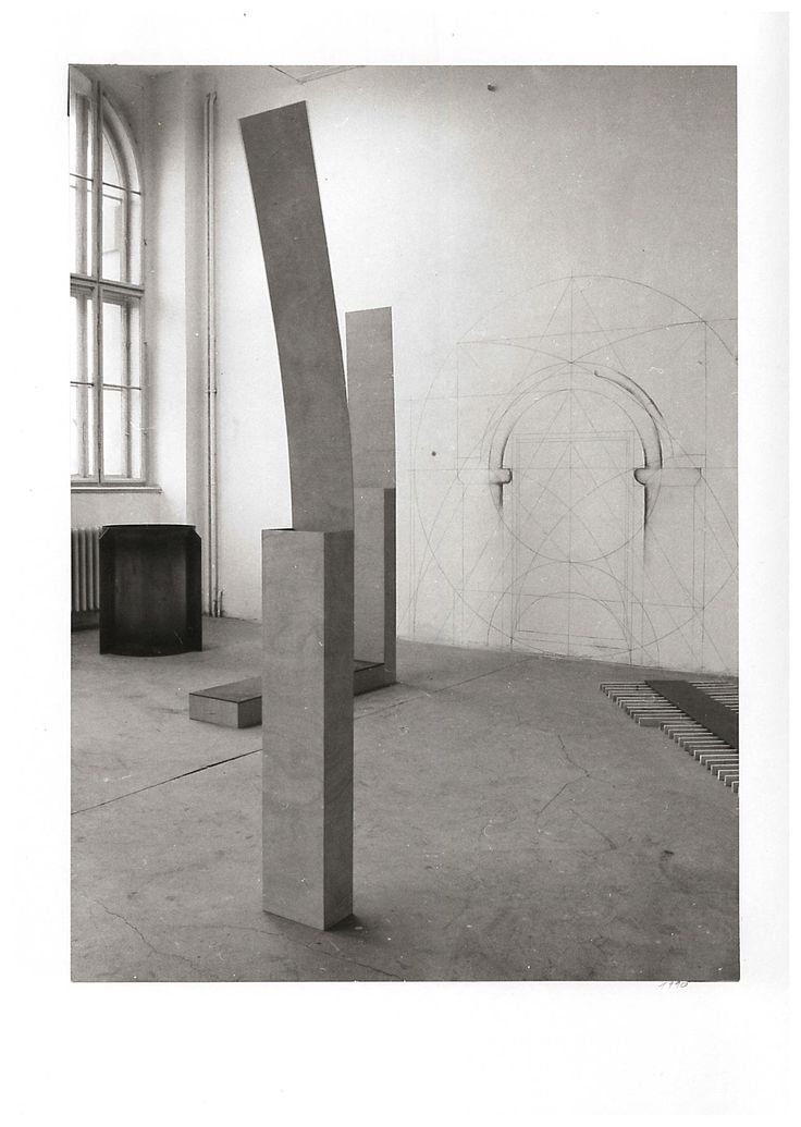 Jan Stolín, Installation, Academy of Arts, Architecture and Design in Prague, 1991