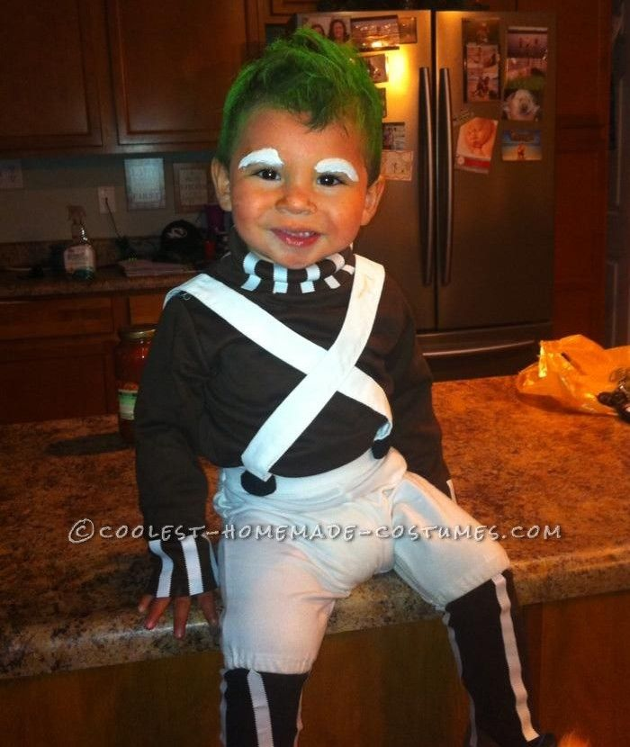 Homemade Toddler Oompa Loompa Costume | Homemade ...
