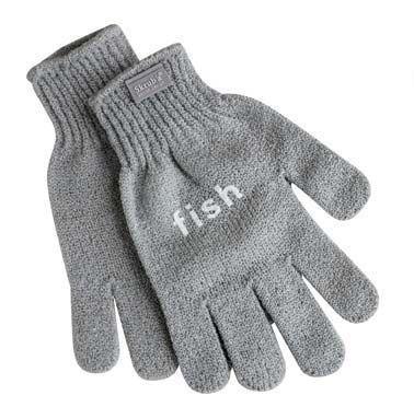 Guanto ruvido in nylon per squamare il pesce e pulire crostacei e molluschi, garantisce un ottima presa e protegge la mani da piccole ferite - Taglia unica