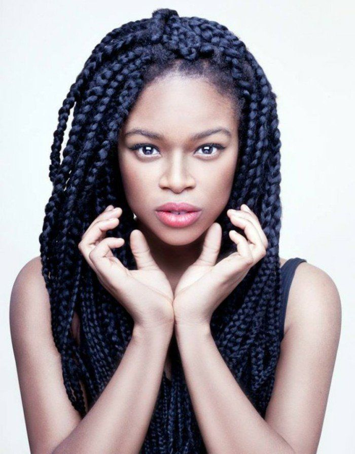 Pi di 25 fantastiche idee su coiffure tresse africaine su pinterest coiffure natte natte - Deux tresse africaine ...