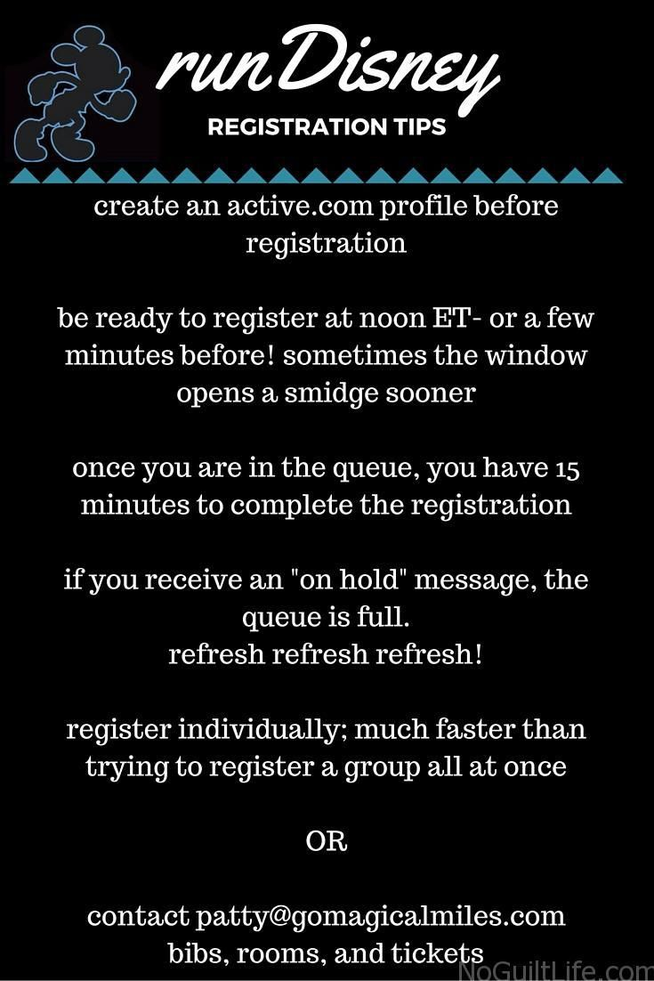 Running a Disney race but not sure how to register? Here are all the tips you need to win that first race: runDisney registration. All the races follow this basic registration process: Princess Half, Tink Half, Walt Disney World Marathon, Star Wars, Wine and Dine, Avengers, and Disneyland Half weekends.
