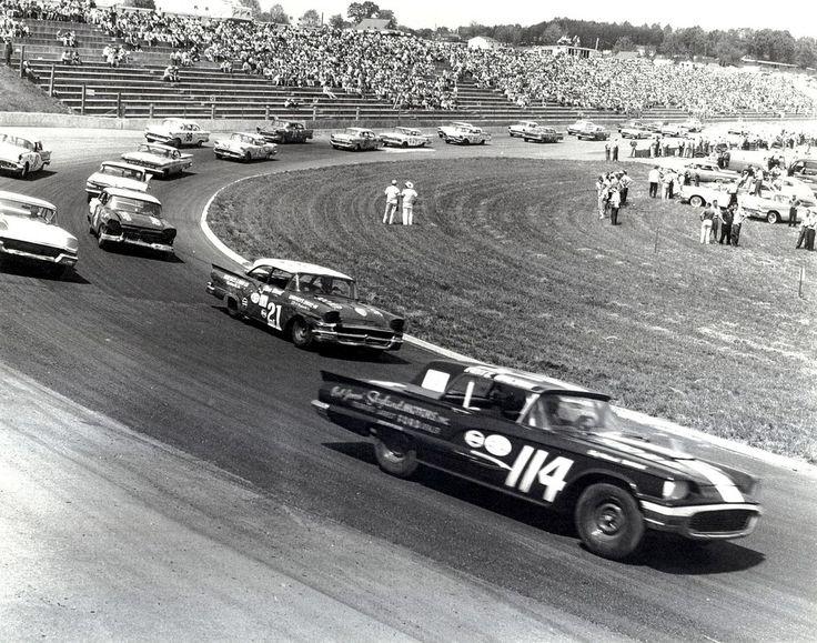 #NASCAR Race, 1958  .#Vintage photo