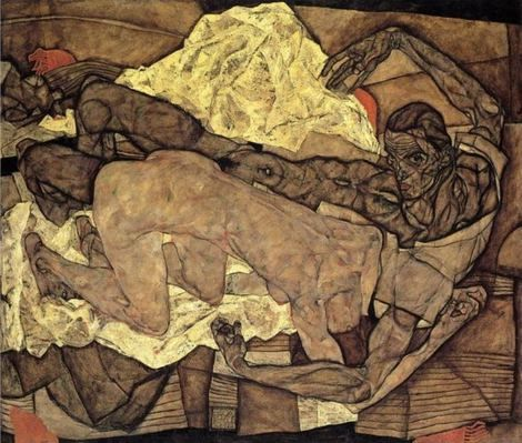 Egon Schiele, Couple d'amants 1914 on ArtStack #egon-schiele #art
