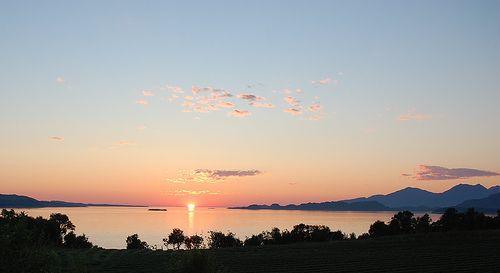 Midnight sun - Helgeland - Norway