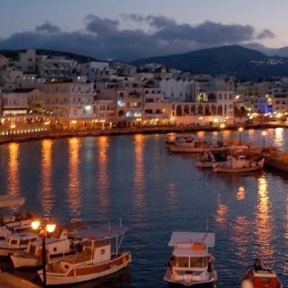 Pigadia limani by night Karpathos