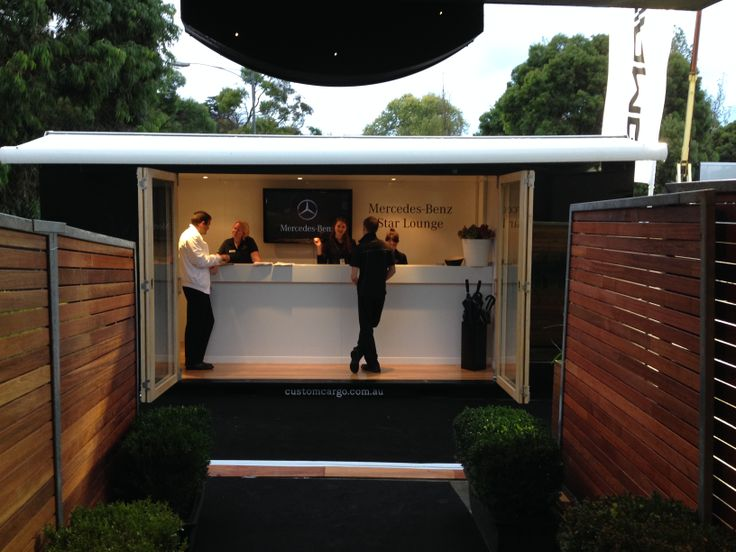 #MBStarLounge Customised Custom Cargo shipping container for event reception and registration.  Client: Mercedes-Benz and The Laneway Group