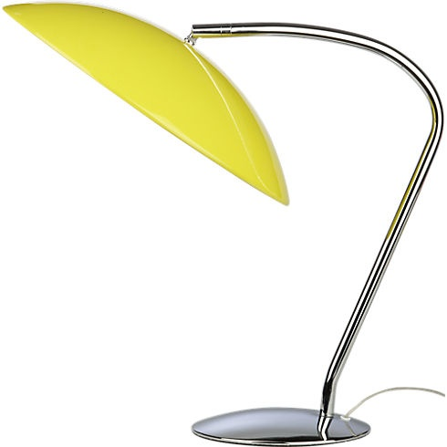 atomic yellow table lamp in table lamps | CB2 - desk lamp