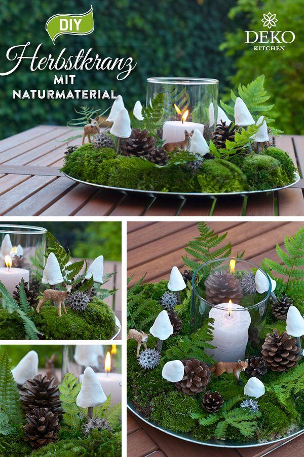 Diy Wunderschone Herbstdeko Aus Naturmaterial Selbermachen Aus Diy Herbstdeko In 2020 Fall Decor Natural Materials Christmas Decorations