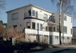 Husstilar exteriör: 1930-tal hus. Funktionalism, funkis.