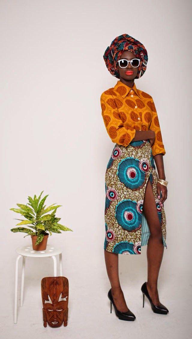 African print outfit by designer Mazel John/ modeles en pagne africain sur ciaafrique