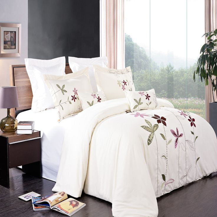 south garden 5 piece embroidered duvet cover set comforter coverduvet cover setscover