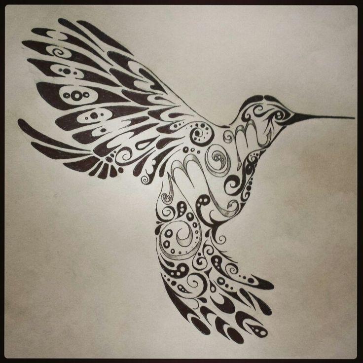 hummingbird tattoo mom tattoo tribal tattoo tattoo design by chelsie haeg tattoo ideas. Black Bedroom Furniture Sets. Home Design Ideas