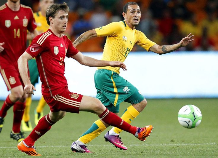 2013-11-19 International friendly match between South Africa and Spain at Soccer City Stadium on November 19, 2013 in Johannesburg, South Africa.