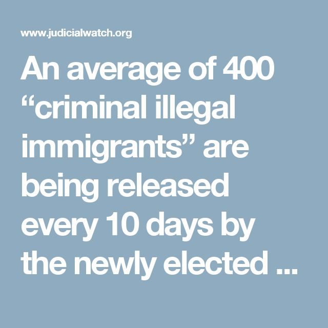 """An average of 400 """"criminal illegal immigrants"""" are being released every 10 days by the newly elected sheriff in Arizona's most populous county, federal law enforcement sources tell Judicial Watch, many of them violent offenders. It's part of Maricopa County Sheriff Paul Penzone's new policy to protect illegal aliens, even those who have committed serious state crimes, from deportation. Under a longtime partnership between the county and the feds, the Phoenix field office of Immigration and…"""