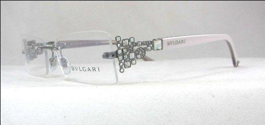 New Bvlgari 2104 B 103 Designer Glasses Frames Spectacles - White & Silver