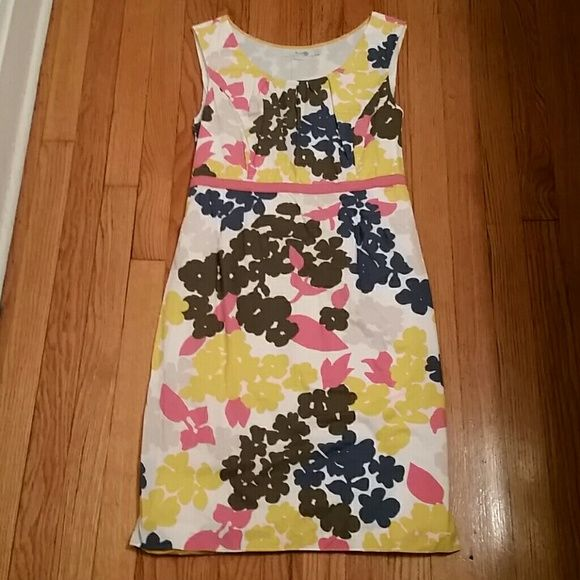 Boden dress Boden. Multi color floral dress. There is a section of seam on inside of dress that needs resewn, see pic above.  No major alteration necessary. Boden Dresses