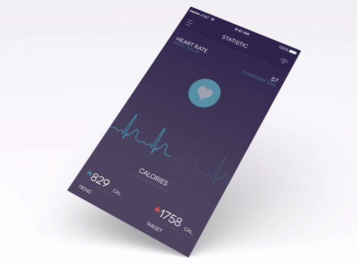 Health tracker animation  wip  ramotion