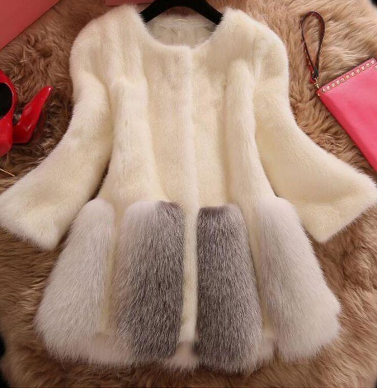 Women's Fur Parka Winter Trench Coats Slim Fit Long Jackets Outwears Hot Sales