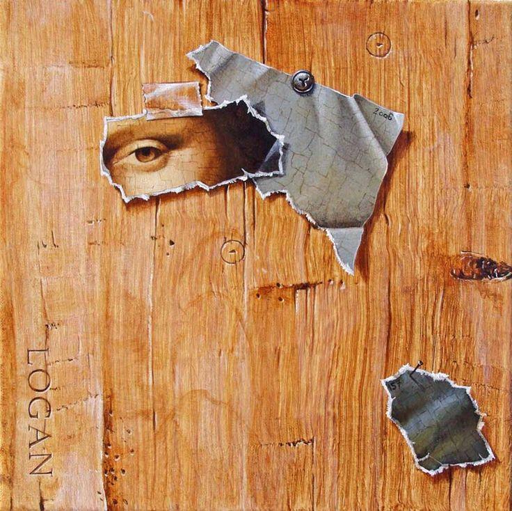 Dyptique à la Joconde 2 [Bruno Logan] (Gioconda / Mona Lisa)